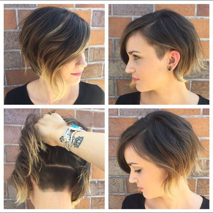 Undercut with side shave. Can I have this without the shaved part… lol … I feel like I'm being brave enough cutting it this