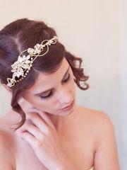 modern bridal headband outdoor