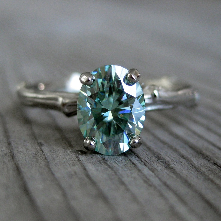 Oval Green Moissanite Twig Engagement Ring 1 3ct Via Etsy Dyt Type 2 Ssu Amp Tsu Pinterest