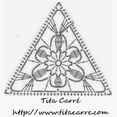17 Best images about crochet triangle motifs on Pinterest