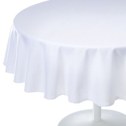 Room Essentials Solid Round Tablecloth 70  Bridal