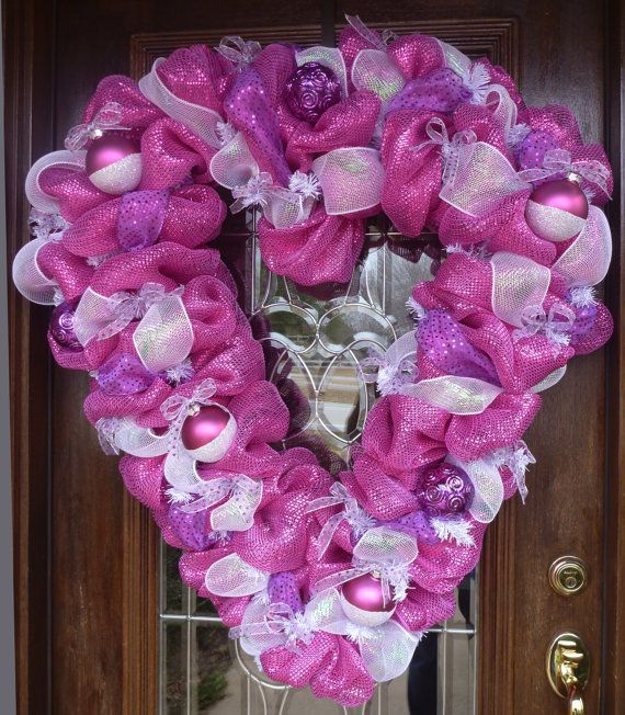 1000 Images About Valentine Mesh Wreaths On Pinterest