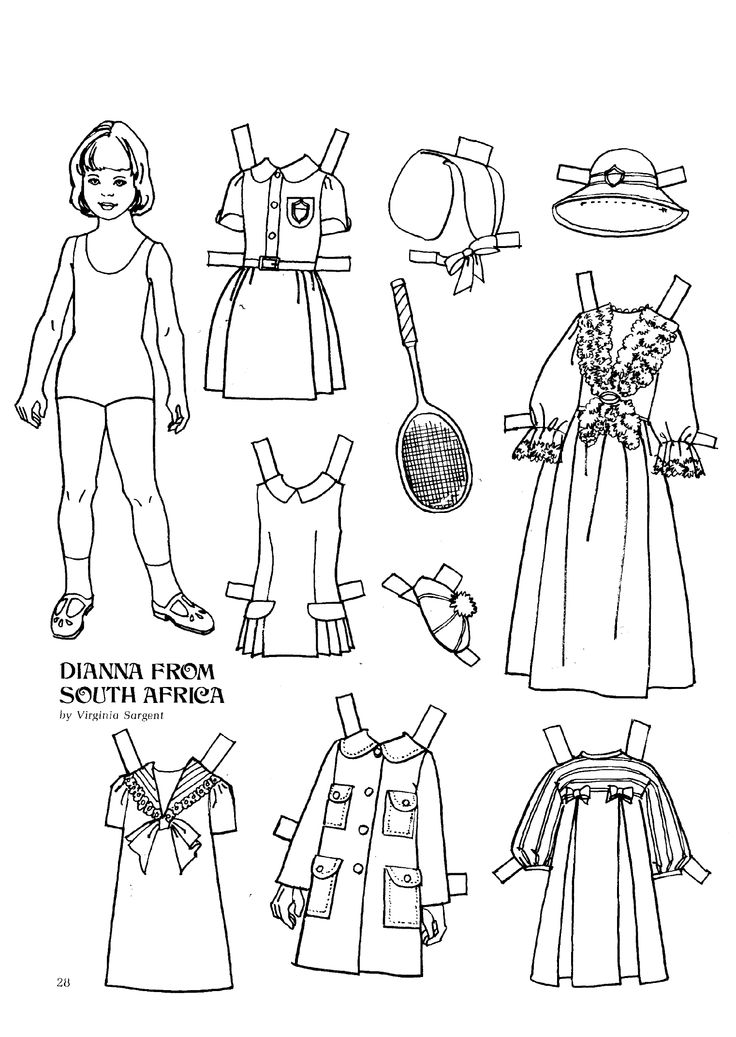 421 best images about Paper Dolls to Color on Pinterest