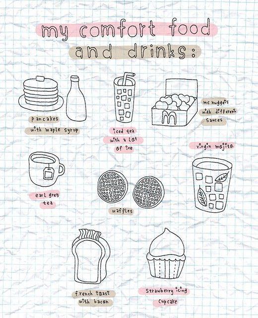Page idea: Favorite [comfort] food  #artjournal