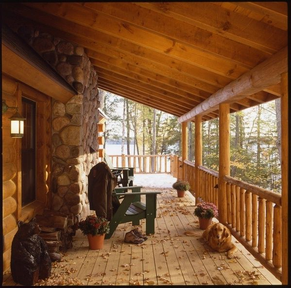 12 best images about Cabin porches on Pinterest  Rocking