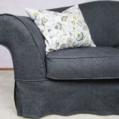 Corner Sofas For Bedrooms Three And Two Seater Denim Couch Slipcover | Slipcovers Pinterest ...