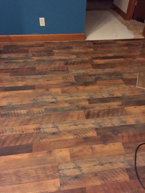 New floor is in Pergo Max River Road Oak Lowes  My