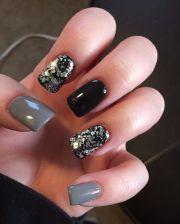 ideas gray nails