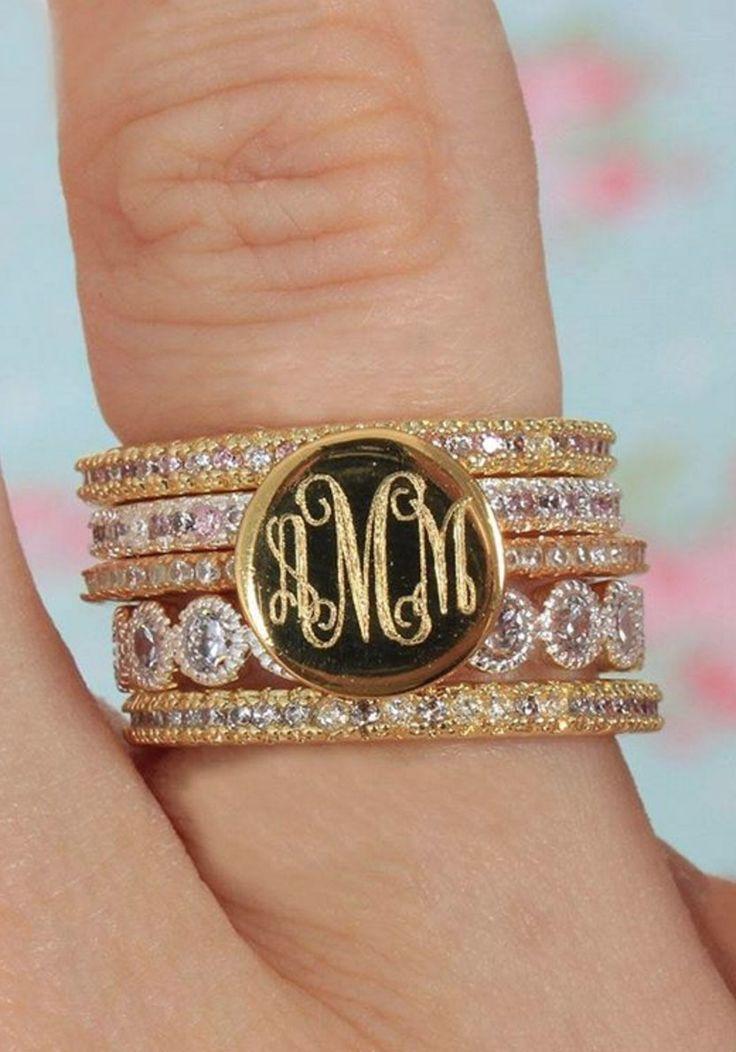 17 Best ideas about Monogram Jewelry on Pinterest