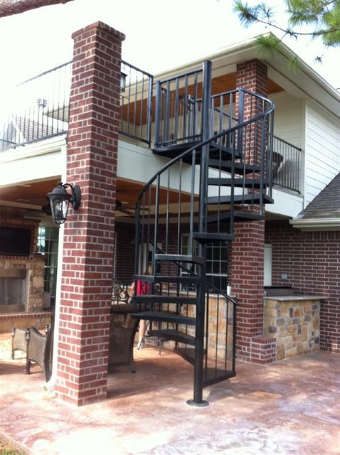 Spiral Stairs From Patio To Deck Live High Balconies