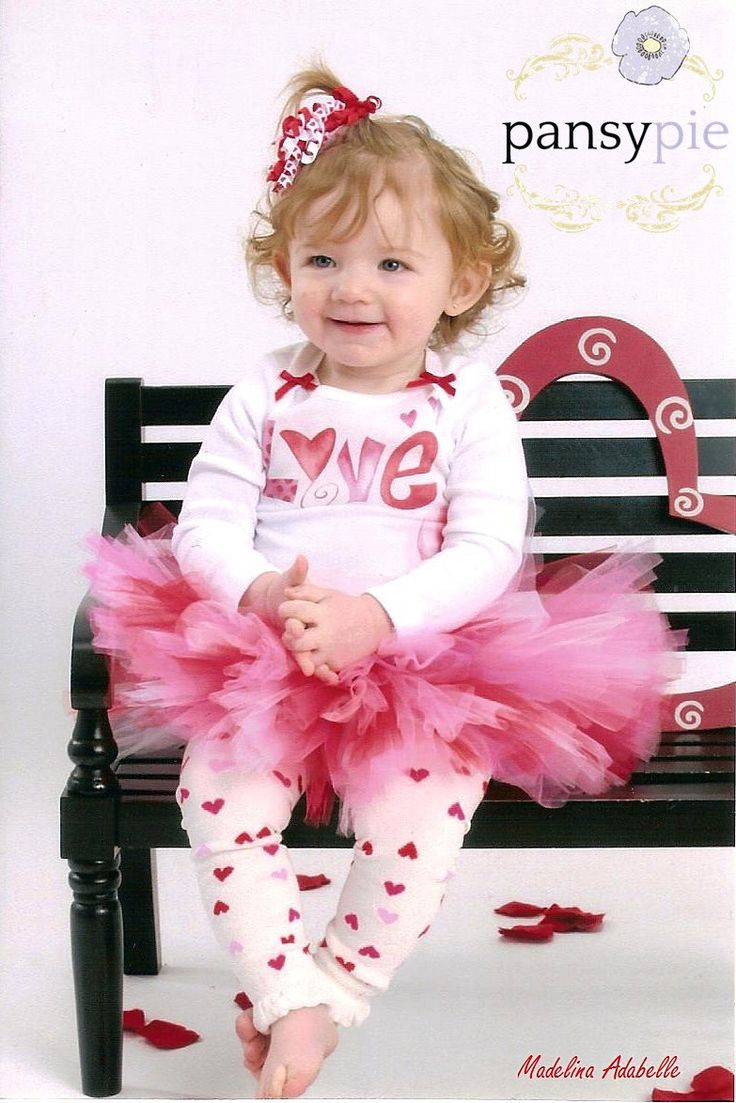 Baby Girl Valentines Outfit Valentines Day Tutu Dress