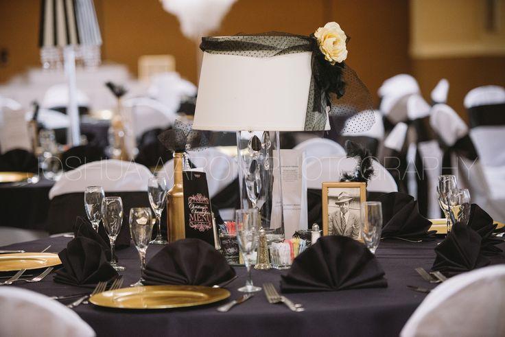 Table settings sat Harlem Renaissance wedding  Harlem