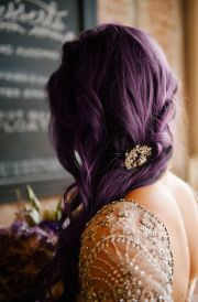 elegant hair #pretty #plum #purple
