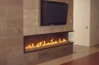 Montigo custom corner fireplace