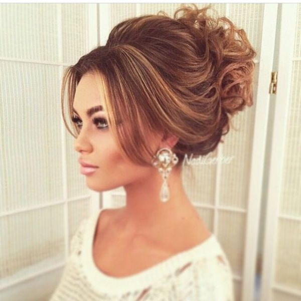 High Messy Bun Wedding Hair Labzada Blouse