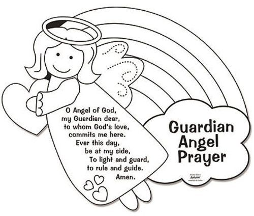 Amazon.com: Color Your Own Guardian Angel Prayers Arts