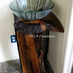 Kitchen Decoration Ideas Aid Bbq Corner Live Edge Vanity Black Walnut Hardwood Vessel Sink ...