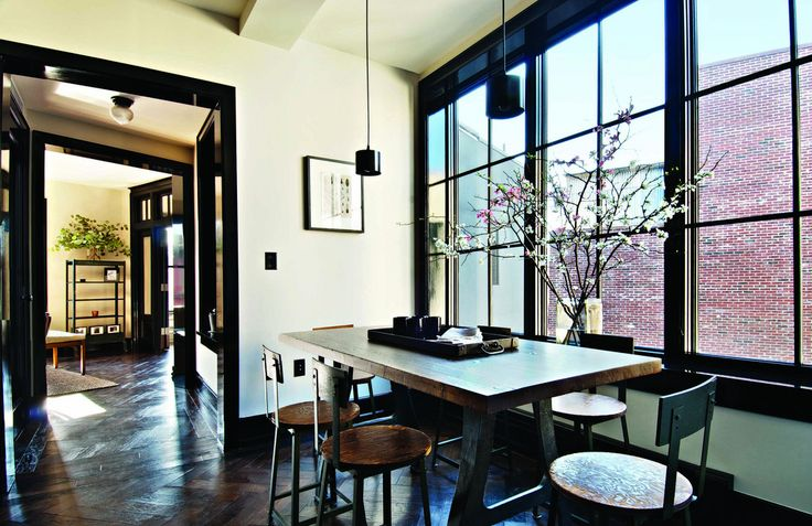 white walls black trim moulding  Living Room  Pinterest