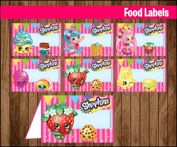 picture relating to Free Printable Shopkins Food Labels identified as Very good Cost-free Printable Shopkins Foods Labels -