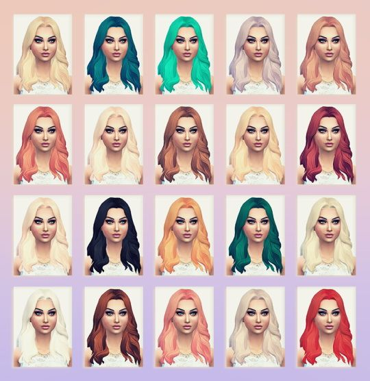 25 Best Images About Sims 4 Hair On Pinterest Long Wavy