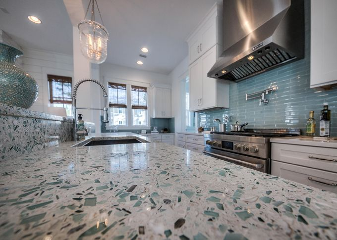 kitchen glass backsplash fork