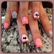 coral sailor nails nail glam'