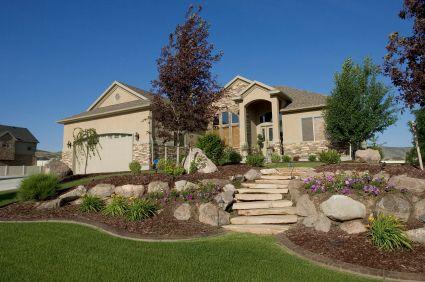 hill landscaping idea garden