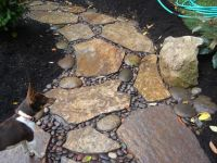 building a walkway | River Rock Walkway | For the Home ...