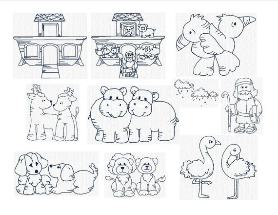 Religious Instant Download Machine Embroidery Noah's Ark