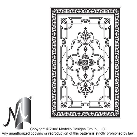 Custom patterns and stencils for etching, faux painting
