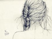 hair braid sketch art