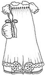 the white clothes are an important symbol of baptism