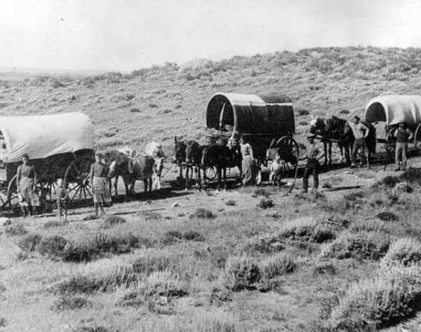 Wagon Train Eastern Colorado 1880 Faces of the Old