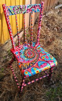 25+ best ideas about Painted Chairs on Pinterest   Hand ...