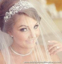25+ trending Wedding Tiara Veil ideas on Pinterest