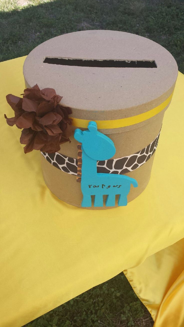 Baby Shower gift card box  Giraffe BabyShower Yes  Pinterest  Disney Colors and Shower gifts