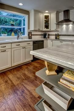 Nip Tuck Remodeling in Seattle WA chose Formica 180fx Travertine Silver for this remodels