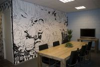Awesome wall mural. Anime. Black and white. | art ...