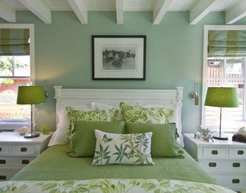 "Benjamin Moore Color...""antique jade."" One can almost"