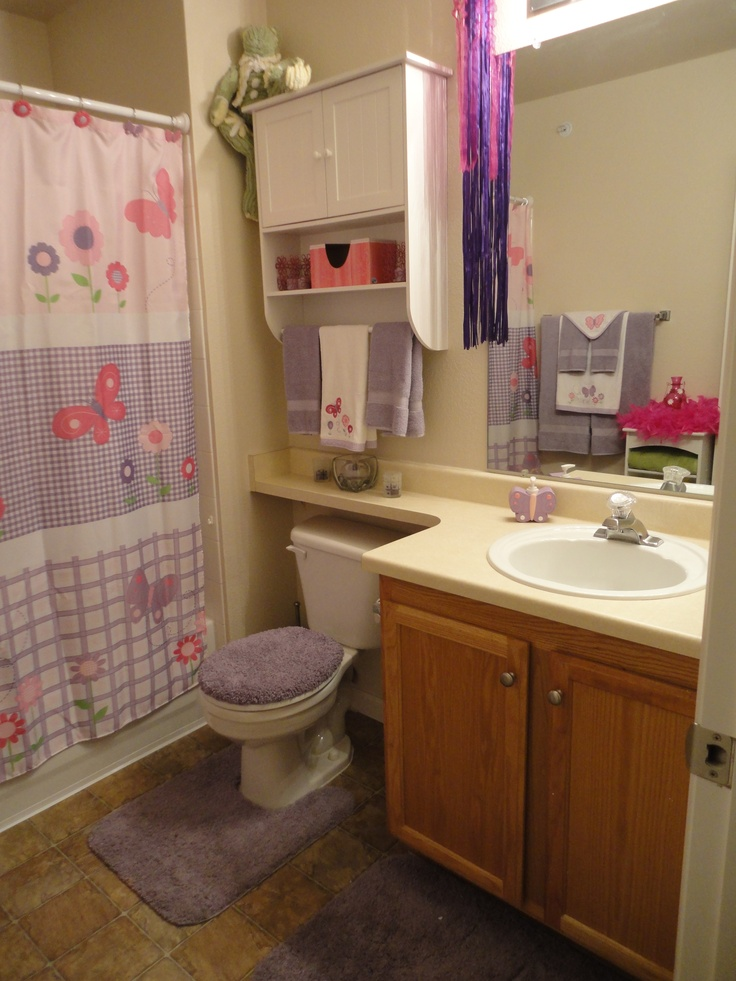 17 Best images about Girls bathroom Ideas on Pinterest  Ruffle shower curtains Bow holders