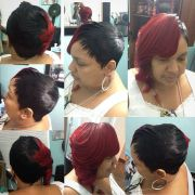 28 piece quick weave with feathers