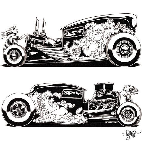 1084 best images about car art on Pinterest