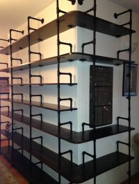 steel pipe bookshelf - 28 images - scaffolding board and ...