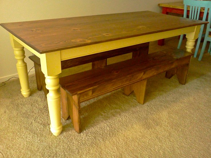 Turned Leg Farmhouse Table Plans 54 Best Images About Ana White Homemaker On Pinterest