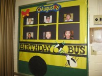Birthday Bus bulletin board   Ideas for classroom ...