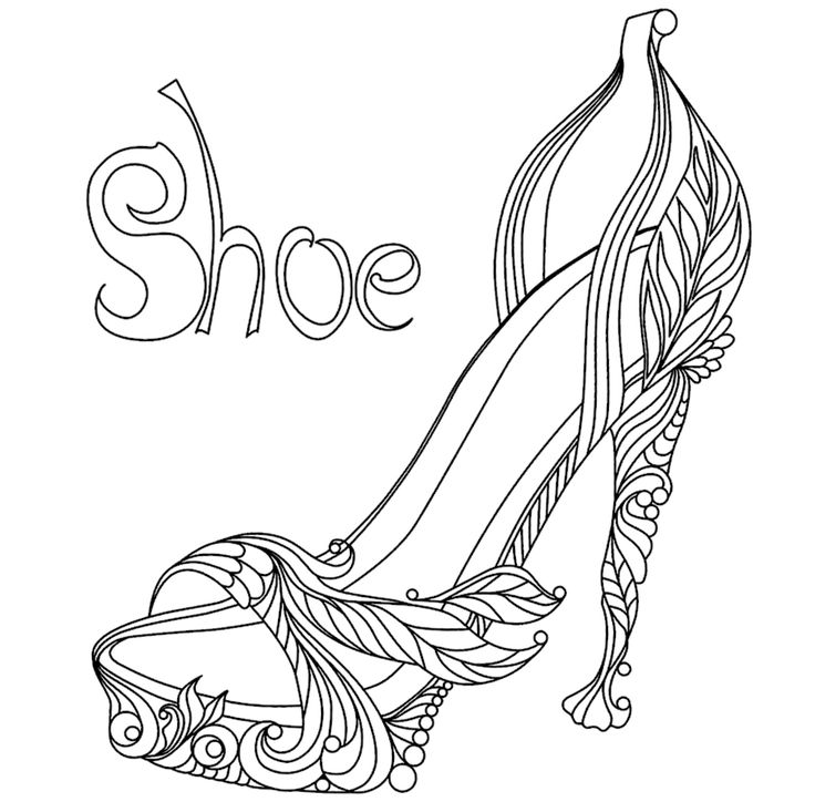 170 best images about Shoes Coloring Pages for Adults on