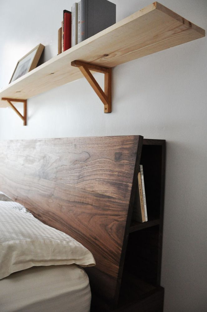How To Build A Queen Size Headboard With Shelves