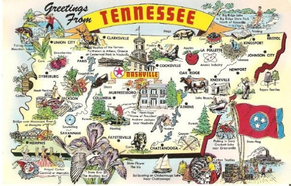 Tennessee Map carte Pinterest George washington