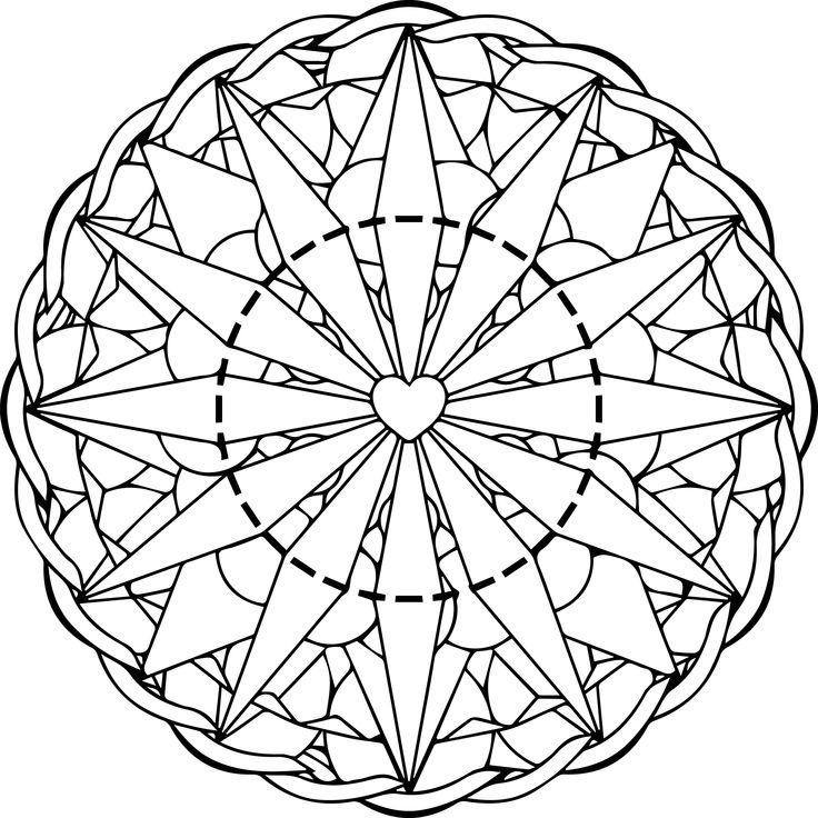 1049 best images about coloriages : mandalas on Pinterest