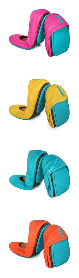 Travel in Tieks – the unique split-sole design allows the shoe to easily fold and fit into a purse or suitcase with room for